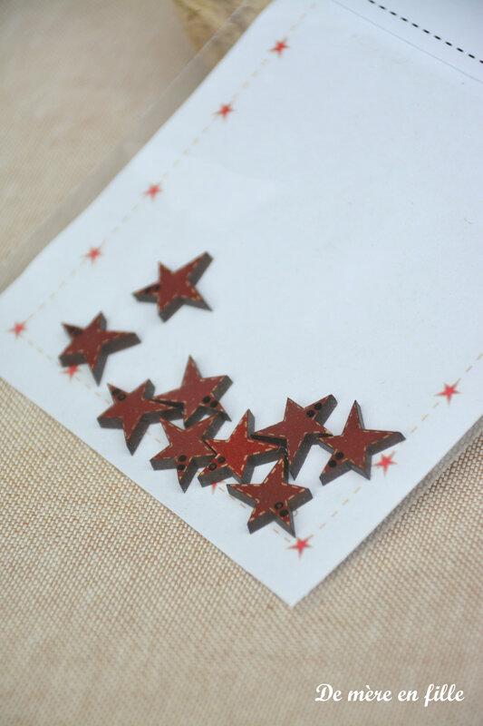 mini étoiles rouges