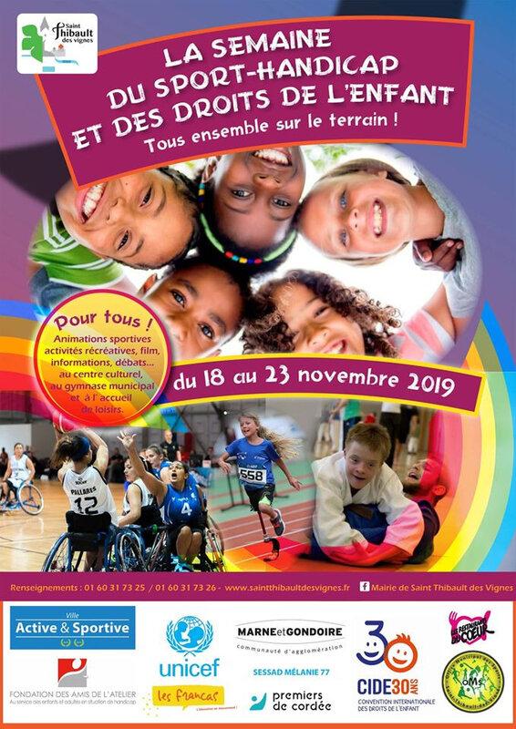 affiche la semaine du sport handicap saint thibault des vignes recto