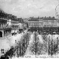 La place gambetta, le grand théâtre et les galeries