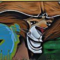 Street art 42 2018 d'os & d'or &(magicien) d'os