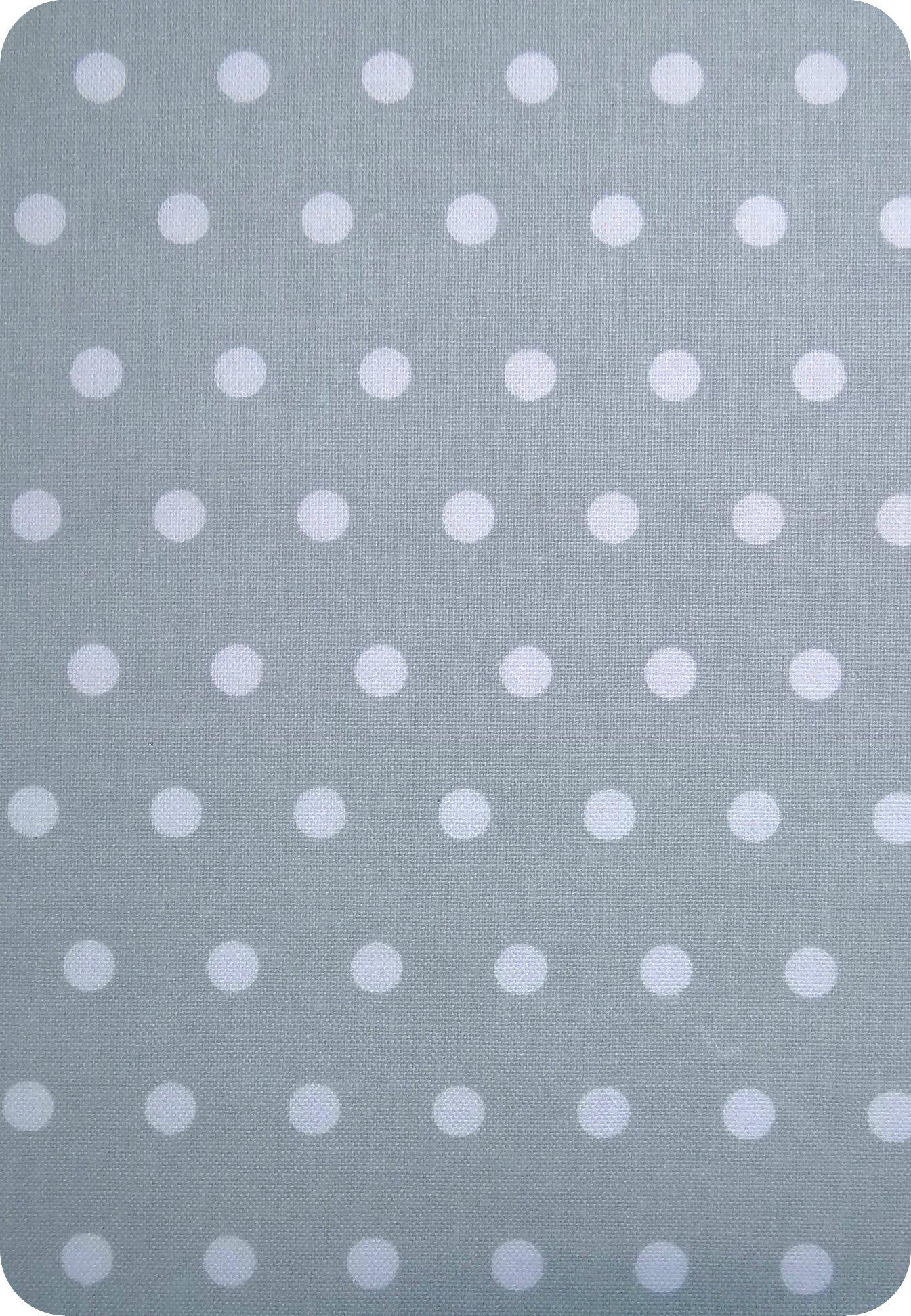 Tissu gris à pois