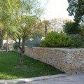 Terrasse en pierre sèche