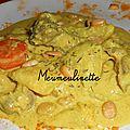 Boeuf bourguignon au lait de coco et curry