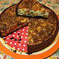 Tarte salée au cacao buternut gorgonzola & noix