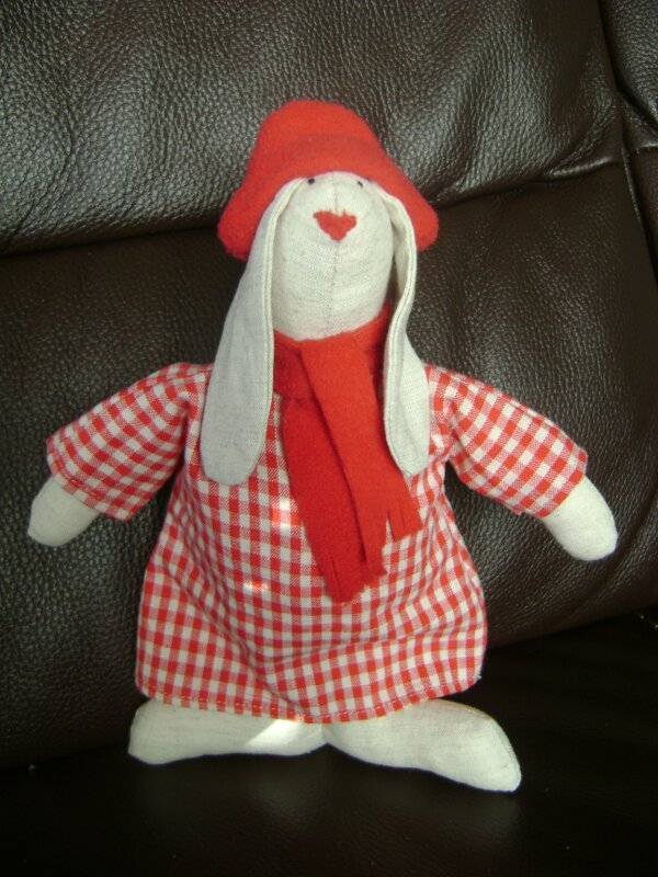 Lapin vichy rouge!