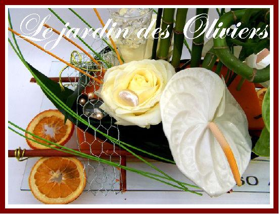 composition florale roses et anthuriums