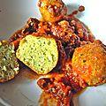 boulettes de pain/sauce bolognaise