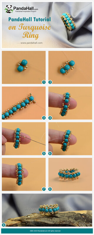 2-PandaHall-Tutorial-on-Turquoise-Ring