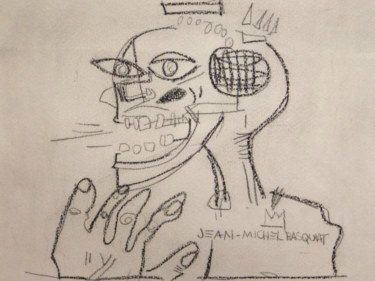 Jean-Michel Basquiat (1960-1988)(Attributed), Skull