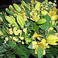 beau bouquet jaune merci