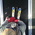 1ère glisse à ski pour le bébé tortue