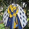 Cigale en tissu avec de la lavande