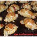 Mini croissants jambon fromage