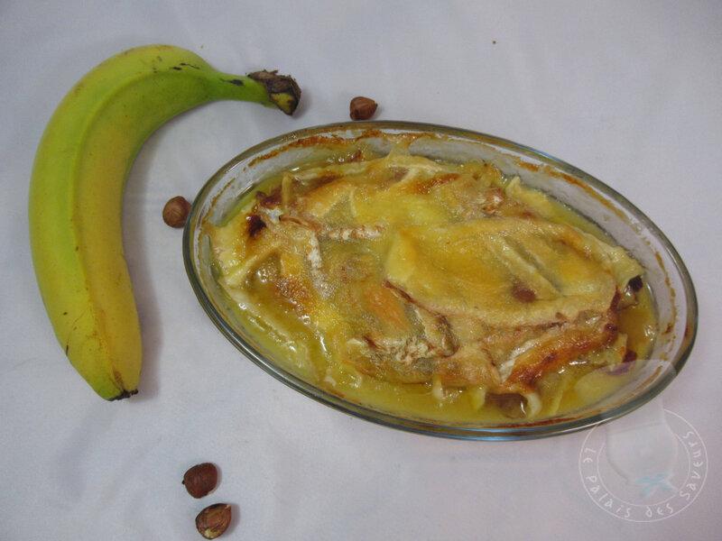 Bananes et noisetttes rôties au Neufchâtel