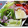 Greek salade et tsatsiki