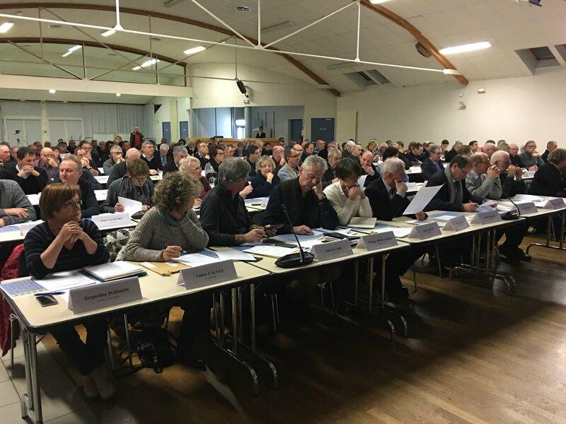 conseil communauté agglomération Mont-Saint-Michel Normandie Isigny-le-Buat 16-01-2017 les élus