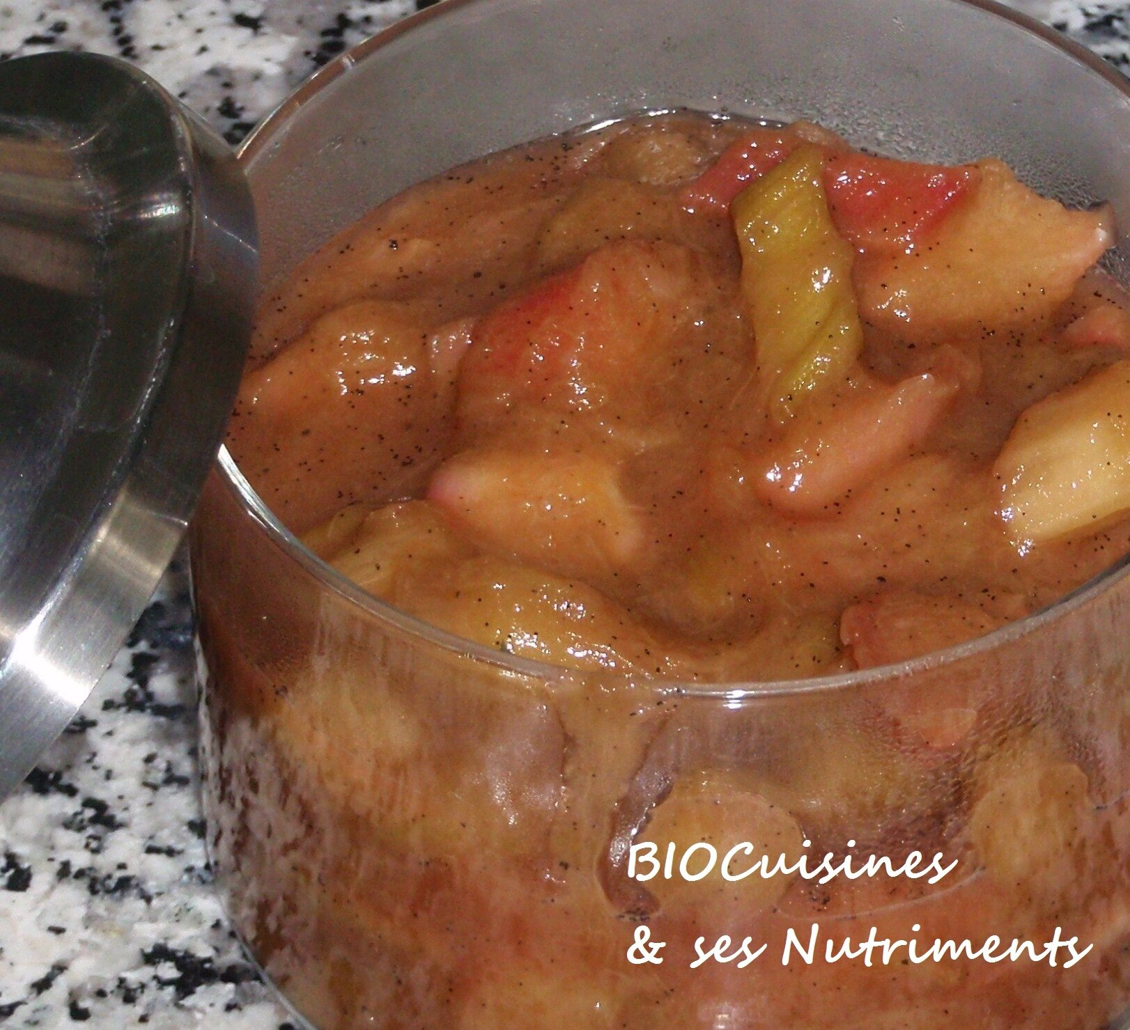compote rhubarbe vanille
