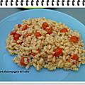 Tortis façon risotto aux tomates cerises ww