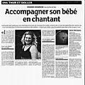 Article parut dans les dna: chant prénatal