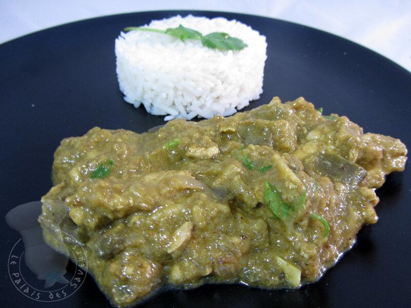 Curry de poulet à l'aubergine