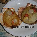 Coquilles st jacques gratinees