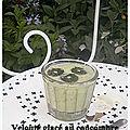 Velouté glacé au concombre et ses diamants à la menthe