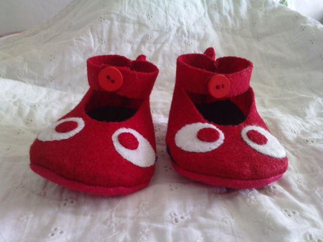 chaussons du poisson rouge