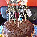 Gâteau carottes et chocolat pour un anniversaire