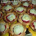 Mini Tartelettes framboise & chocolat blanc