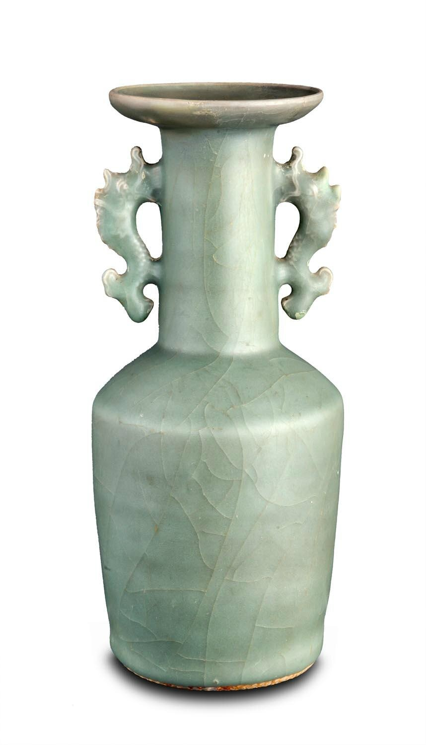 A large Longquan mallet vase, Yuan dynasty (1271-1368)