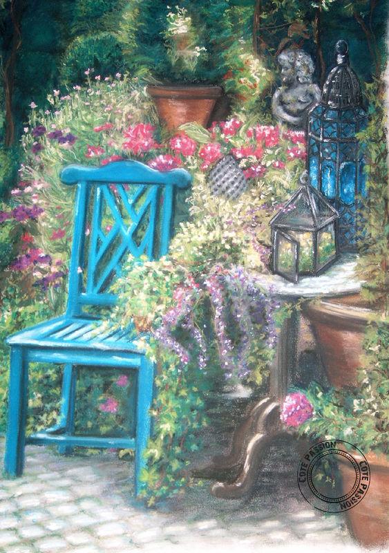 Au Jardin(pastel)