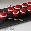 Tomates cocktails farcies à la ricotta