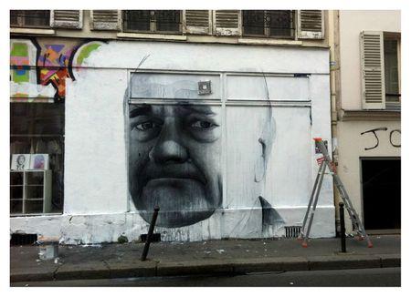 Collage et peinture - Ben Slow - JChirac - 75011