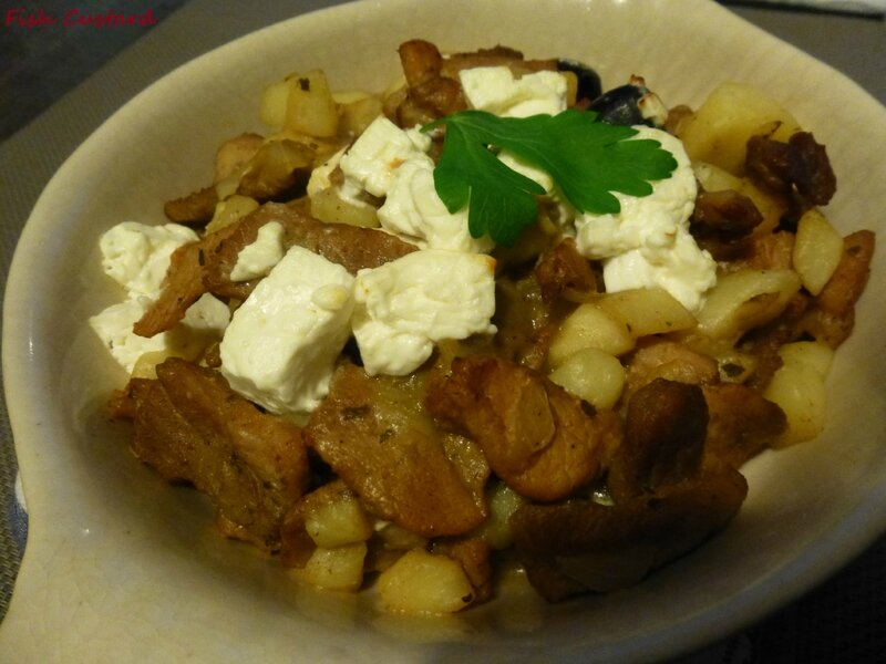 Gyros grec aux pommes de terre, olives et feta (8)
