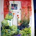 Porte fleurie, aquarelle, 2010