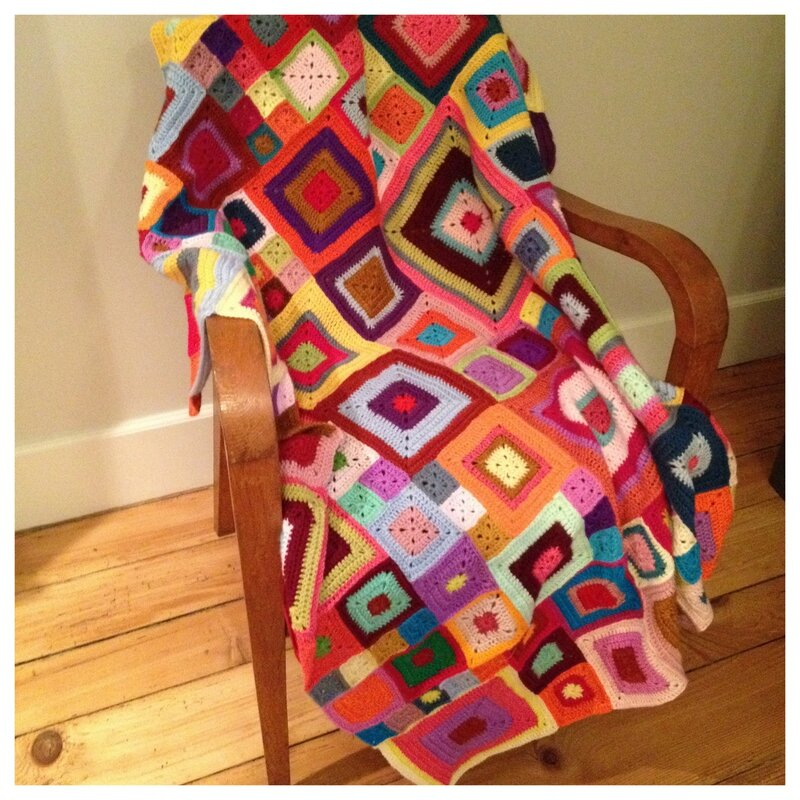 plaid BABETTE blanket