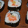 Maki ananas saumon