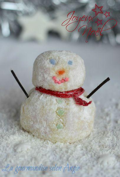 noel bonhomme de neige truffes chocolat blanc