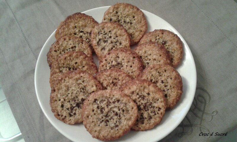 Biscuits aux flocons avoine choco