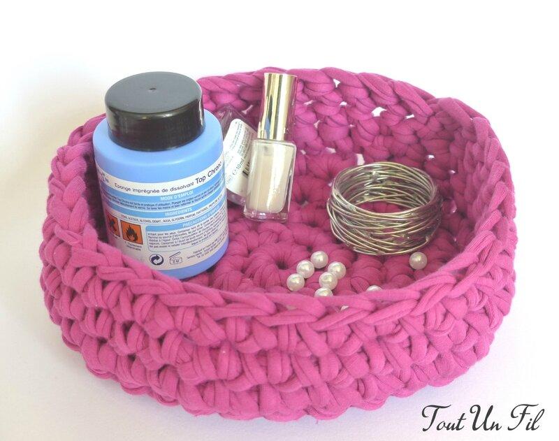 Panier vide-poche Trapilho Crochet T4 04
