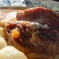 Plat - joue de porc à la bière, au miel et aux épices