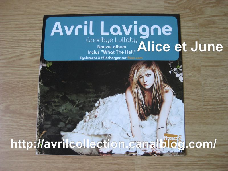 Panneau promotionnel Goodbye Lullaby-Fnac 30x30 (2011)