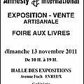 Exposition artisanale avec amnesty international