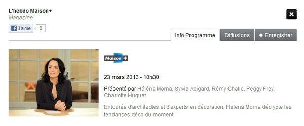 l'hebdo maison+ du 23-03