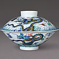 A rare doucai 'dragon' bowl and cover, mark and period of yongzheng (1723-1735)