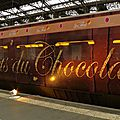 Le train-expo du chocolat.