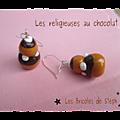 Religieuses au chocolat pour faire des boucles d'oreilles