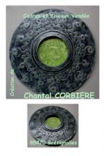 cadre vert de gris