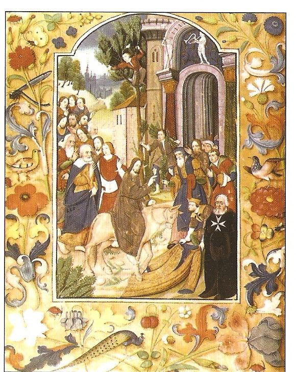 Entrée à Jérusalem - Le gand Maître de l'Isle Adam accueillant l