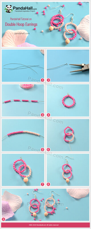 2-PandaHall-Tutorial-on-Double-Hoop-Earrings